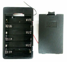 """Battery Holder 6 AA 6-AA 9V ENCLOSED case box with 6"""" cable Leads US Free Ship"""
