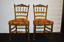 CHAISES PATINEES DORE X 2