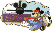 Disney Travel Company Mickey Mouse Earforce One Pin