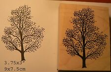 Tree  Rubber stamp wood mounted