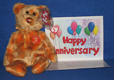 TY MC MASTERCARD ANNIVERSARY #2 BEAR with CARD - MINT with MINT TAGS