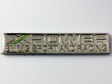 NEW Enamel Chrome XPOWER MG Sport and Racing car Badge X POWER ZR