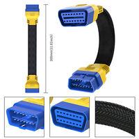 OBDII Verlängerung Kabel Stecker auf Buchse 30CM 16Pin Diagnose Adapter Biegbar