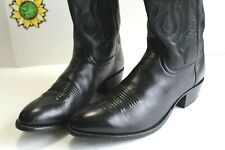 Luchesse 2000 Men's Western Black Leather Handcrafted Boots, US Size 12 D.