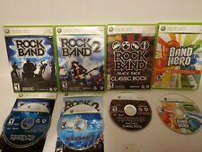 Rock Band Game Lot (Xbox 360) - Rock Band 1, 2, Track Pack Classic Rock & Hero