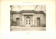 Orangerie Porte Royale Château de Versailles GRAVURE ANTIQUE OLD PRINT 1899