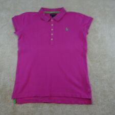 Ralph Lauren Polo Shirt Youth Large 12 - 14 Years Pink Casual Cotton Kids Girls