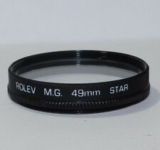Lens Filter: Rolev MG 49mm STAR 4 point  Shipping is free worldwide