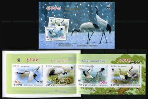 2014 Korea, fauna, birds, japanese crane WWF, booklet imperf.