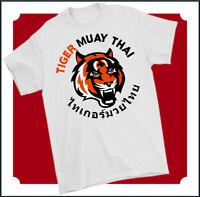 TIGER MUAY THAI T-SHIRT Mixed Martial Arts MMA UFC Training Top Gym Kick Boxing
