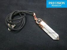 Copper Crystal Quartz Point with Ball Top Precision Pendulum Pendant Necklace