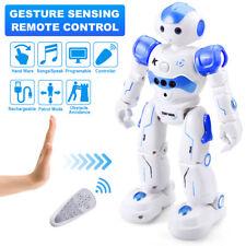 Smart Remote Control Robot for Boys Girls Gesture Sensing Toy Robot Kit, Blue