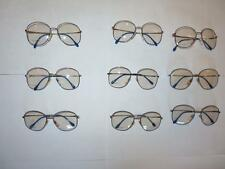 Vintage Unisex Lot of 9 pair Up Tempo Oversized Retro Eyeglasses/Frames, Lot 5
