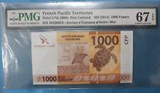 2014 French Pacific Territories 1000 Francs PMG67 EPQ  <P-UNL1000b>