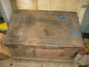 VINTAGE CARPENTERS TOOL CHEST AND TOOLS