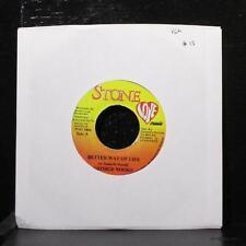 "George Nooks - Better Way Of Life 7"" VG+ Vinyl 45 Stone Love Jamaica 1998"