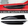 2Pcs Gloss Black Side Fender Fin Vents For Subaru BRZ Toyota 86 GT86 Scion FR-S