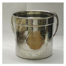 """Decorated Wash Cup Stainless steel Netilat Yadaim 4.8"""" Tall"""