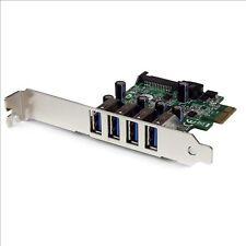StarTech.com 4 Port PCI Express PCIe SuperSpeed USB 3.0 Controller Card Adapter