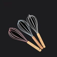 Sale Silicone Wooden Whisk Egg Beater Kitchen Utensil Cookware