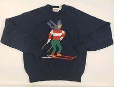 Vintage McGregor knitted sweater Navy Blue Size Medium Skier Designs