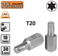 """Embout T20 TORX T-20 entrainement 10 mm 3/8"""" Acier S2 HAUTE QUALITÉ RICHMANN"""