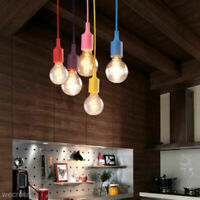 Silicone Gel Ceiling Pendant Lamp E27 Light Bulb Holder Hanging Coffe Shop Decor