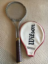 Wilson T2000 Vintage Steel Tennis Racquet, Original, With Cover