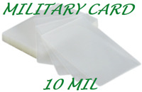 100 Military Card Laminating Pouches Laminator 2-5/8 x 3-7/8 10 Mil Quality