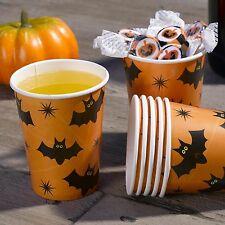 Tazas De Papel De Halloween X 8-Fiesta De Halloween