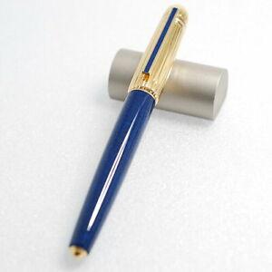 Cartier Fountain Pen RARE Pasha Lapis Blue Lacquer Nib M no Box PM0531