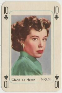 Gloria DeHaven Vintage 1950s Maple Leaf Playing Card of Film Star