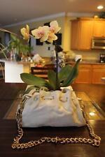 Aqua Madonna CHAIN STRAP IVORY LEATHER BAG PURSE (purse  400)