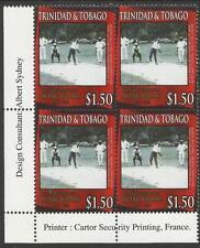 Trinidadian & Tobagonian Sports Postal Stamp Blocks
