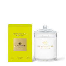Montego Bay Rhythm Coconut & Lime 380g Triple Scented Soy Candle Glasshouse