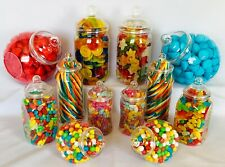 12 Various Victorian Style Food Grade Plastic Sweet Jars DIY Candy Buffet Party