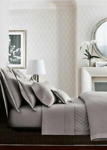Ralph Lauren Home King Bedford Jacquard Grey Dawn Duvet Cover retail $500