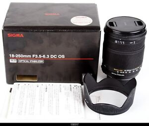 Sigma DC 18-250mm f/3.5-6.3 OS HSM DC Lens  Nikon AF Digital  Mint Box
