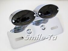 SMOKE Motorcycle LED Tail Light w/Indicators for Harley Cafe Racer Project Bike