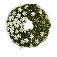 Kranz Deko Türkranz Blumenkranz Blumen, Frühling Ostern grün weiss Kunstblume,