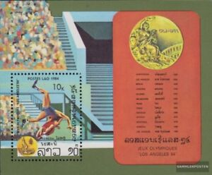 Laos block100 (complete issue) unmounted mint / never hinged 1984 olympic. Summe