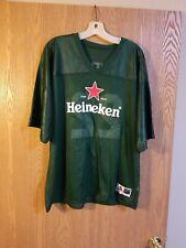 Heineken Beer #22 Green Football Jersey Augusta Adult Xl