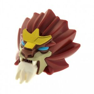 1x LEGO Bionicle Figurines Head Chima Lion Dark Red Chi Laval 70200 13906pb01