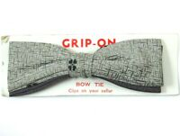Grip Tite Vintage Clip On Bow Tie 1950s Grey Silver Gray NOS Bowtie