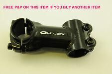 RALEIGH OUTLAND A-HEAD AHEAD STEEL MTB STEM 31.8mm x 80mm 10 DEGREE RISE BLACK