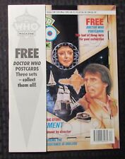 1992 DOCTOR WHO Marvel UK Magazine #186 VF 8.0 w/ 4 Post Cards NM 9.4