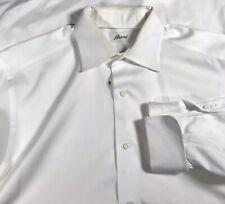 Brioni Men's Long Sleeved French Cuff Dress Shirt Sz 16 White
