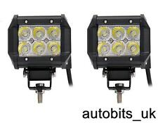 POWERFUL 18W FRONT BULL NUDGE BAR SPOT SMD LED LIGHTS 12V DAY LAMP CAR SUV 4x4