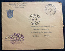 1918 US Army PO Forces In France Censored Cover To Paris WW1