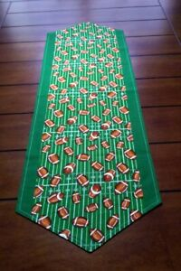 """Handmade 40"""" Football Themed Tailgate and Table Runner Big Game Party Decoration"""